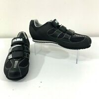 Pearl Izumi X-Road Shoes Men's 43 (US 9) All Road Cycling 3-Strap Black Silver
