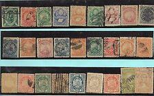 Bolivia. Conjunto de 44 sellos de 1867 a 1901 usados y nuevos