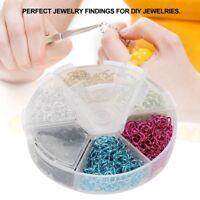 1080Pcs Open Jump Ring Split Rings Connectors Jewelry DIY Making 6 Colors Rings