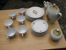 Kaffeeservice für 6 Personen, KAHLA Könitz, gebraucht, Blumenmuster (siehe Foto)