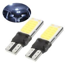 2pcs 6W LED Bright White 6000K COB Canbus T10 W5W 194 168 Wedge Light Bulb DC12V