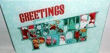 "Glass Cutting Board 11 3/4"" X 7 3/4""  GREETINGS FROM THE NORTH POLE"