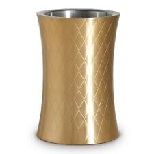 VonShef Wine Cooler Bucket Etched Gold Chiller Holder Insulated Stainless Steel