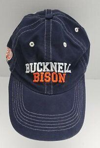 Champion BUCKNELL BISON Strapback Hat Cap OS Adult Navy Blue NCAA Pennsylvania