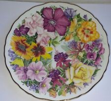 Royal Albert Collectors Plate Birthday Bouquet  For the Queen Mother ~ Free Post