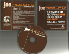 JOE & G UNIT Ride Wit U w/ INSTRUMENTAL & ACAPPELLA PROMO DJ CD Single with you