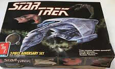 1989 AMT ERTL STAR TREK 3 Piece Adversary Set Romulan Klingon Ferengi Model Kit