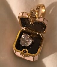 JUICY COUTURE Pink Jewelry Box Charm & LG Heart Shaped Crystal