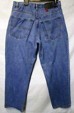 Vintage Bugle Boy 7M Jeans Baggy Fit Tapered Leg Stonewash Blue Denim Mens 34x32