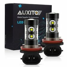 2x AUXITO H16 50W 2800LM 90° Angle 6000K White Fog Driving Light LED Bulbs H11 K