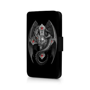 Skull Wings Phone Flip Case For iPhone