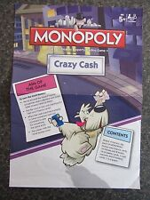 INSTRUCTIONS RULES Monopoly CRAZY CASH Board Game Hasbro REPLACEMENTS SPARES