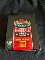 1992 Topps Stadium Club Baseball Series 1 BOX Sealed Packs New NOS VTG