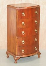 VINTAGE CIRCA 1960'S SMALL TALLBOY CHEST OF FIVE DRAWERS GREAT SIDE LAMP TABL