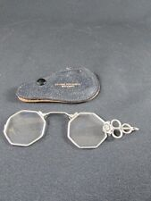 White Metal Folding Pince - Nez Spectacles c.1900-10