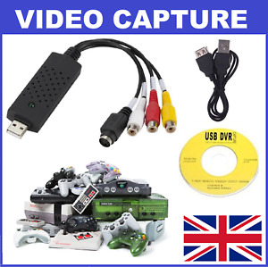 Video Game Console USB Capture Card S-Video Composite -Nintendo Sega Playstation
