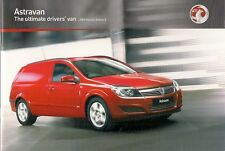 Vauxhall Astra Van 2008-09 UK Market Sales Brochure 1.4i 1.3 1.7 1.9 CDTi