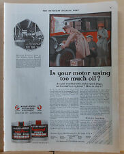 1921 magazine ad, McQuay Norris Piston Rings - Is Your Motor using too much oil