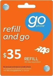 AT&T - AT&T Prepaid $35 Refill Top-Up Prepaid Card , AIR TIME  PIN / RECHARGE