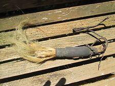 African Tribal Art :Hide & Hair Baule Shawman Healer Staff from Ivory Coast