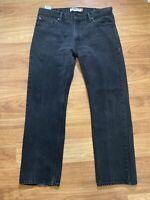 Levi's 505 Men's Regular Fit Size 38 x 32  Black Jeans