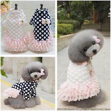Puppy Small Dog Cat Warm Lovely Sweater Princess Skirt Winter Dress Pet Clothes