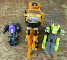 Lot of 3 Vintage Transformers. Crane, Jet, and Tiger. Missing Pieces