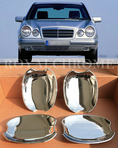 US STOCK Set 4X CHROME Door Handle Cups for Mercedes E CLASS W210 95-02 E55 E320