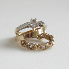 9ct GOLD WEDDING, ENGAGEMENT & ETERNITY RINGS CHARM