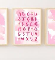 Set of 3 Ballet Dance Print For Girls Bedroom Nursery Wall Decor ( Emma Wiggle )