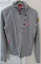 Ladies Puma Ferrari Grey Track Jacket Medium with Pink Accents EUC