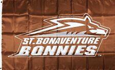 St. Bonaventure Bonnies NCAA Flag 3x5 ft College Logo Banner Man-Cave Garage