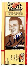 Sid Abel-Red Wing HOFer-70th Anniversary repro ticket  w/original autograph
