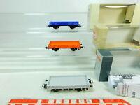 BT468-0,5# 3x Roco H0/DC Güterwagen (ohne Ladegut) NEM: 47886+47960+47919, OVP