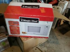 Microwave Oven Countertop 1.1 Cu Ft White 1000W Safety Lock 6 Auto Cook Settings