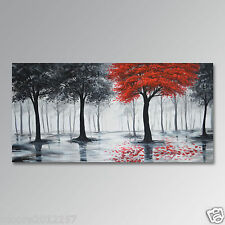 Huge Modern hand-painted Oil Painting Art tree On Canvas Wall decor No Framed