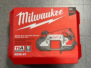 Milwaukee 6232-21 Deep Cut Variable Speed Band Saw Kit Hard Case New