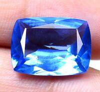 AAA Brazilian 11.90 Ct Natural London Blue Topaz Loose Gemstone Certified F0310