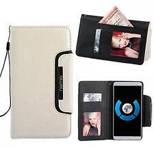 Handy Tasche Schutz hülle Wallet Case Etui Flip Cover für Sony Xperia M5 WEISS