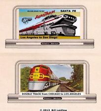 Trains billboards N or Z scale signs, two more Santa Fe railroad, Atsf set#2