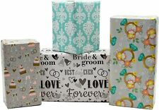 B-There Wedding Gift Wrap Wrapping Paper for Women, Men, Party, Adults. 4.