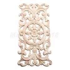 Rectangle Wood Carving Decal Door Onlay Applique Frame Unpainted Corner Decal