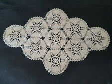 Vintage cream crocheted cloth.