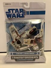 2008 Hasbro Star Wars Transformers Clone Pilot To Republic Gunship