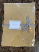 "NEW Williams Sonoma Hemstitched Table Runner - 16"" x 90"" - Linen Mustard Yellow"