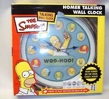 Simpsons Homer Talking Wall Clock Electronic Pacific Direct 2004 New