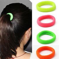 50Pcs Women Girl Hair Band Ties Elastic Rope Ring Hairband Ponytail Holder LJ