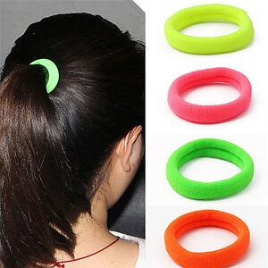 50Pcs Women Girl Hair Band Ties Elastic Rope Ring Hairband Ponytail Holder DD