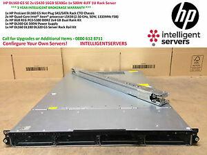 HP DL160 G5 SE 2x L5420 16GB SC40Ge 1x 500W 4LFF 1U Rack Server