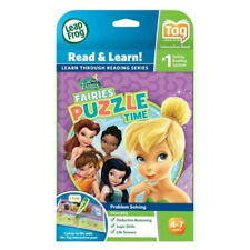 LeapFrog LeapReader Book Disney Fairies Puzzle Time works with Tag